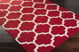 contemporary red rugs