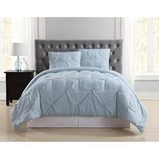 truly soft everyday pleated light blue twin xl comforter set