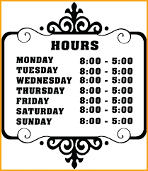 Closed Signs Template Store Sign Template Free Business Hours Templates Retail