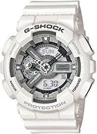 casio g shock men s quartz watch white dial analogue digital casio g shock men s watch ga 110c 7aer