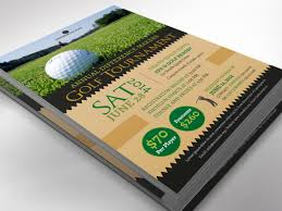 Charity Golf Tournament Flyer Word Publisher Template By