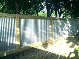how to build a corrugated metal fence and wood steel n w