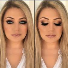 vanity makeup on insram gold smokey cat eye looks so amazing on her ice blue eyes hair colored by inessav sign up for my uping new york