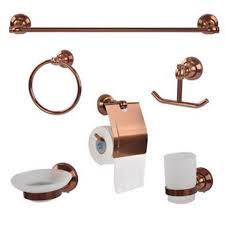 Copper Bathroom Accessories Sets Bathroom Towel Holder Sets Carsignum