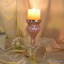polished gold mercury glass pillar candle holder lovely candlestick antique silver mercury
