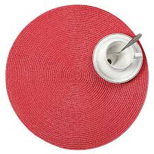 1pcs 38cm pp round jacquard weaved non slip placemats dining table mats home