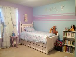Accent wall stripes for little girl room. Kristin duvet set Pottery Barn  Kids. Blue