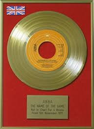 Abba 24 Carat Gold Disc 7 Inch The Name Of The Game