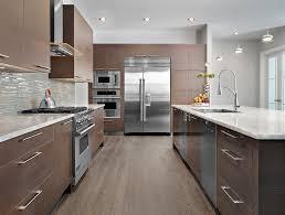 Kitchen Backsplash Glass Tile Dark Cabinets Glass Tile Backsplash
