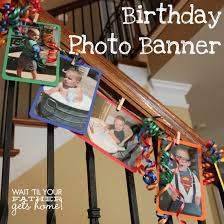 Birthday Photo Banner via Wait Til Your Father Gets Home #birthday #banner  #photos