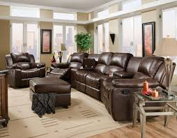 Living Room With Brown Leather Sofas Leather And Faux Leather Furniture Washington Dc Northern