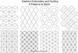 Quilting Stitching Patterns try japanese embroidery with 8 free ... & Quilting Stitching Patterns try japanese embroidery with 8 free sashiko  patterns patrones Adamdwight.com