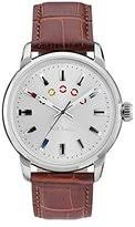 paul smith watches for men shopstyle uk paul smith men s quartz watch silver dial analogue display and brown leather strap p10022