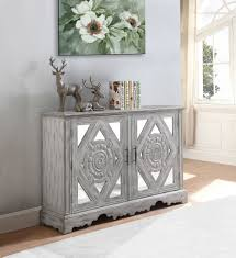 distressed mirrored furniture. Distressed Grey Mirrored Accent Cabinet By Coaster 950751 Furniture S