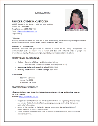 Resume Sample For Job Application Pdf 100 Examples Of Cv For Job Applications Quote Letter 34