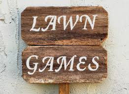 Wooden Yard Games Etsy Wedding Signs New Lawn Games Sign Lawn Games Wedding Yard 85