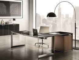 steel office desks. L-shaped Glass And Steel Office Desk 45/90 | Desks R