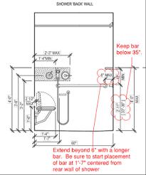 ada shower grab bar height image cabinetandra tavern
