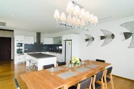 Dining Table And The Kitchen E2 80 93 Aap Villas Phuket dining room light  fixtures
