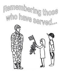 Thank You Soldier Coloring Page Color Bros