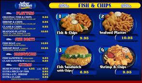 Arthur Treachers Fish Chips Fish Chips Dining Menu