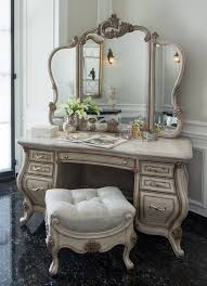 image great mirrored bedroom furniture. 7 drawers champagne finish vanity set with desk mirror bench image great mirrored bedroom furniture