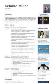 academic advisor/counselor Resume Example