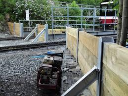 railway sleepers slotted into rsjs or
