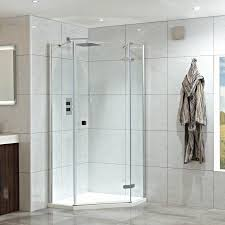 900mm w x 900mm d neo hinged pentangle shower enclosure