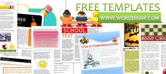 Microsoft Word Free Templates Free Template For Newsletter In Word Worddraw Free Newsletter