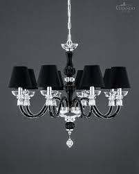 114 ch 8 chrome black crystal chandelier reina chandeliers