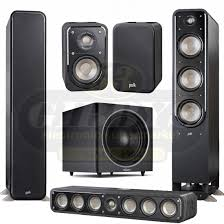 home theater tower speakers. polk audio s60 home theater tower speakers w/ s35 center channel s10 satellite and psw125 subwoofer \u2013 bundle