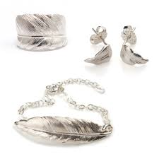 silver feather jewellery set silver feather jewellery set silver feather ring fbl silver feather bracelet sq small silver feather earrings sq