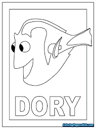 Finding Dory Coloring Sheets Pages Free Disney Nemo Hostmixclub