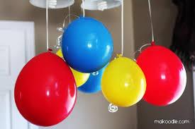 hanging balloons birthday party decor