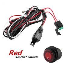 12v wiring relay switch red led light bar on off rocker switch www amzn orders at Light Bar Wiring Harness Bulk