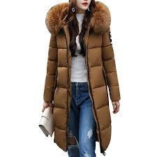 women long warm coat large fur hoos parkas wadded down jackets cotton clothing slim las hooded