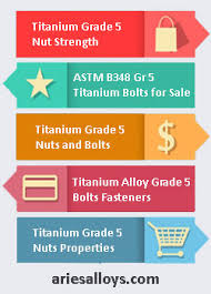 Titanium Alloy Grade 5 Bolts Nuts Fasteners Suppliers Astm