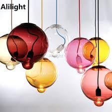 colorful pendant lights modern wonderful light colorful glass bubble pendant light hanging lamp dining room bar