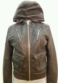 superdry er hooded leather jacket szsmall chocolate brown full zip womens brown superdry bags superdry tops bank accessories