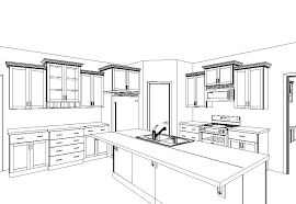 kitchen drawing perspective. Delighful Kitchen A  Intended Kitchen Drawing Perspective