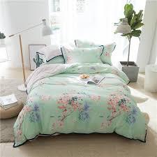 super soft tencel cotton bedding set bedclothes queen king size flower print girls bed room set duvet cover bed sheet pillowcase designer comforter sets