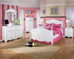 Girly Twin Bedroom Set Idea with Pretty White Sleigh Bed and Two  Nightstands and Beautiful Drawers