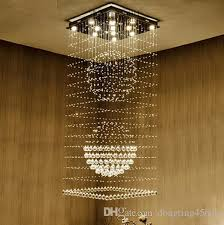 k9 one level crystal chandelier stairs lamp livingroom hanging lamp compound floor light fixtures gu10 led bulb chandelier for bedroom ceiling fan with