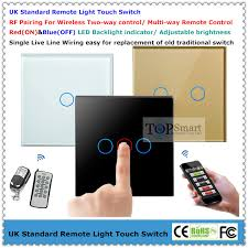 uk standard 3 gang 2 way remote light touch switch with tempered Four-Way Switch Light Wiring Diagram at Wiring Diagram Three Way Touch Light