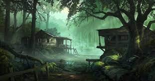 tree, watercourse, darkness, screenshot ...