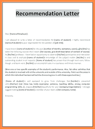 Sample Recommendation Letter For Student From Employer Recommendation Letter Sample For Student Elementary 6 Format