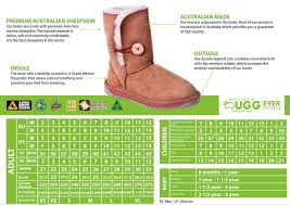 Ugg Women S Size Chart Size Guide