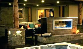 2 sided gas fireplace