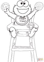Small Picture Cookie Time for Cookie Monster coloring page Free Printable